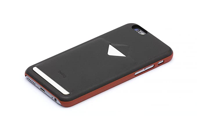 best website e1796 02b55 Bellroy Leather iPhone 6 Phone Case - 1 Card Charcoal/Tamarillo