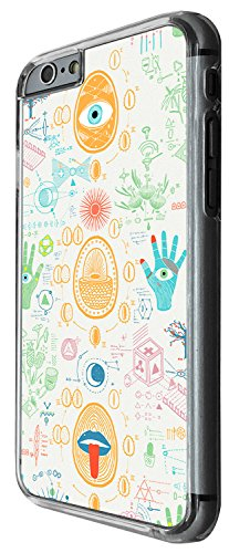 1399 - Cool Fun Trendy cute kwaii space maths science sketch Design iphone 4 4S Coque Fashion Trend Case Coque Protection Cover plastique et métal - Clear