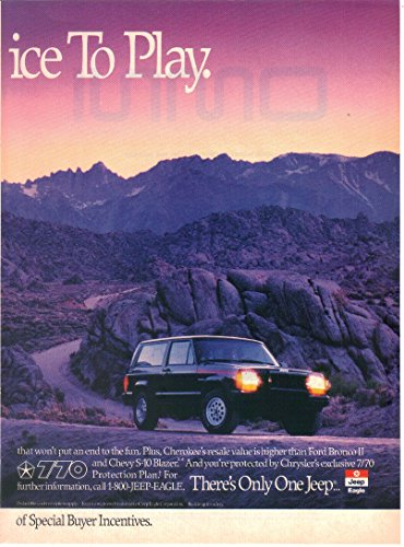 Magazine Print ad: 1990 Jeep Cherokee Sport