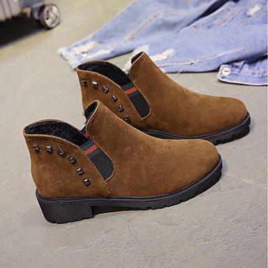 5 RTRY UK4 US6 Verde Botas EU37 Mujer CN37 Marrón Zapatos Confort Chunky Talón 5 Gore Otoño Moda Pu Para Casual De 7 Botas Negro 5 r1UqTwr