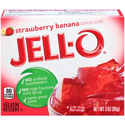 Jell-O Strawberry Banana Gelatin Dessert Mix, 3 oz Box by Jell-O (Image #3)