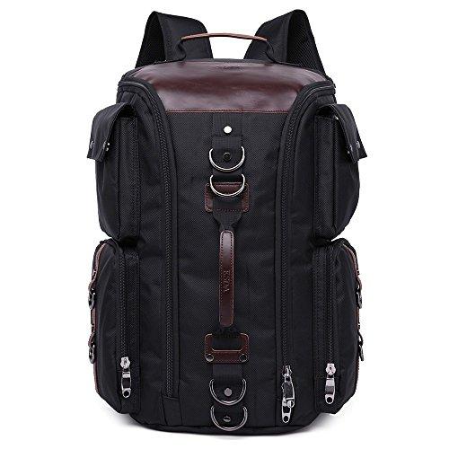 KSDA Oxford-Gewebe Backpack Herren Vintage Laptop Rucksack Reisen Handgepäckstück mit großer Kapazität Schwarz 2118#