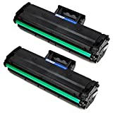 #9: JARBO 2 Black Compatible for Samsung 101S MLT-D101S MLTD101S Toner Cartridges High Yield, Use with Samsung ML-2165W ML-2165 SCX-3405FW SCX-3405W SF-760P Printer