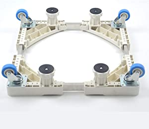 Washer Base Base, Rack For Mobile Base Mount For Lifting With 4 Swivel Wheels, For Dryer, Washing Machine And Refrigerator