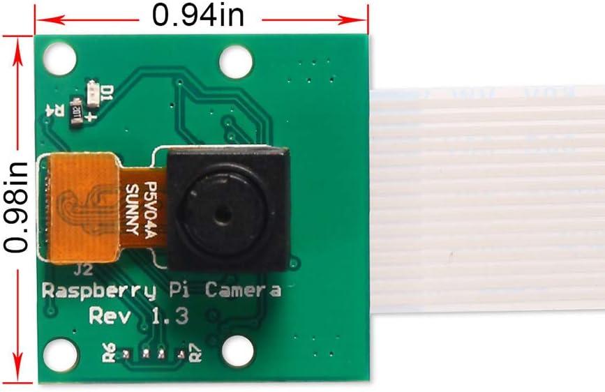 Dorhea Raspberry Pi 4 Model B Mini Camera Video Module 5MP 1080P Sensor OV5647 Camera Video Module for Raspberry Pi Model A//B//B Plus Pi 2 and Raspberry Pi 3 Mode 3 B+