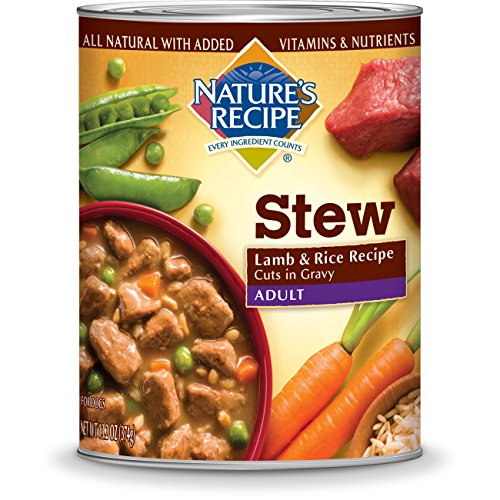 Nature's Recipe Lamb & Rice Recipe Cuts In Gravy Wet Adult Dog Food, 13.2-Ounce (Pack of 12)