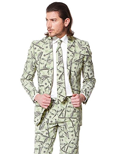 OppoSuits Men's Cashanova Party Costume Suit, Multi,