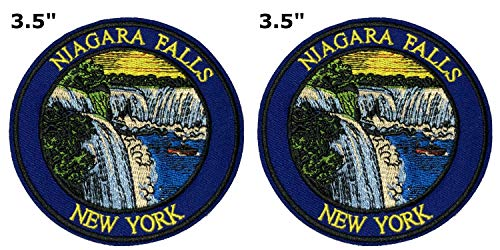 (Niagara Falls National Park Series 2-Pack Embroidered Patch Iron-on Sew-on Explore Nature Outdoor Adventure Explorer Souvenir Travel Vacation Emblem)