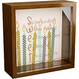 Sweet Sixteen Memorabilia Shadow Box