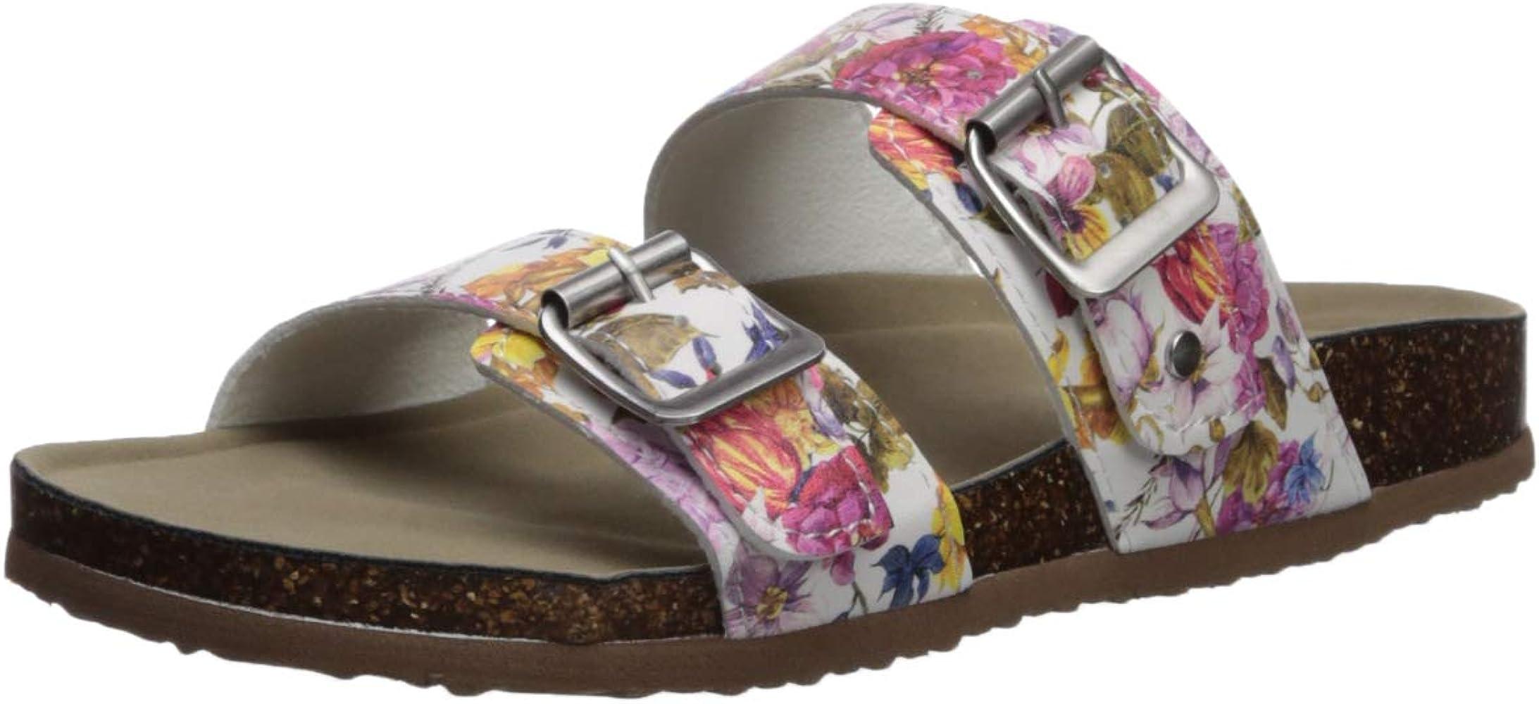cad0f29258a Amazon.com | Madden Girl Women's Brando Slide Sandal, White Flower ...
