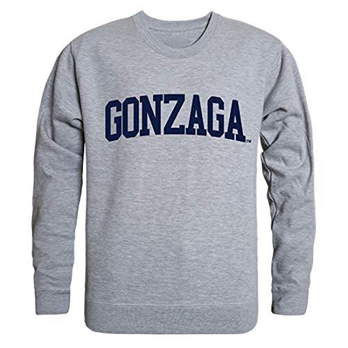 W Republic Gonzaga Bulldogs NCAA Men's Game Day Crewneck Fleece Sweatshirt - Small, Heather Grey