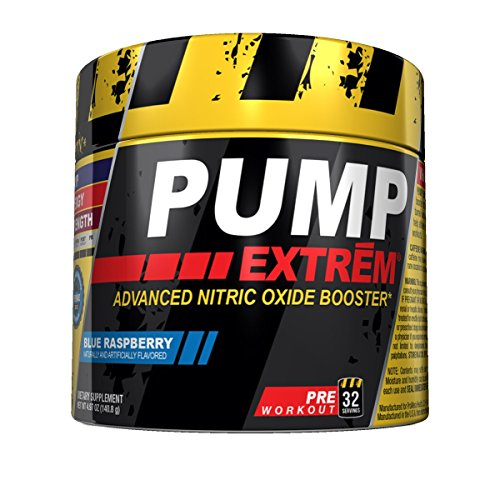 Promera Health Pump Extreme Diet Supplement, Blue Raspberry, 32 Servings