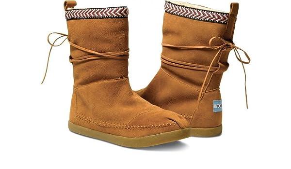 12d2c9907 Amazon.com | Toms Trim Women's Nepal Boots (W8, Chestnut Suede Trim) | Boots
