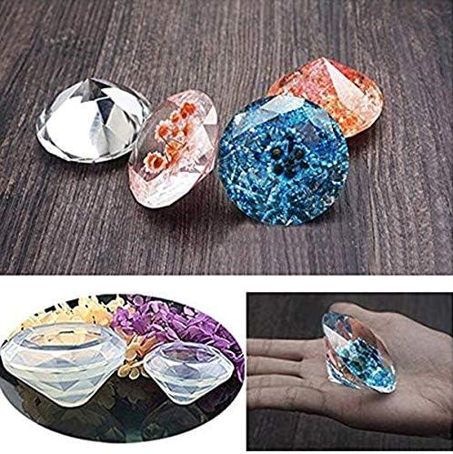 zum Kreieren Ihrer eigenen kristallklaren oder blickdichten Diamant-f/örmigen Objekte Polymer-Ton- // Harzformen leicht zu entfernen 2 Silikon-Formen DIY-Diamond-Kit