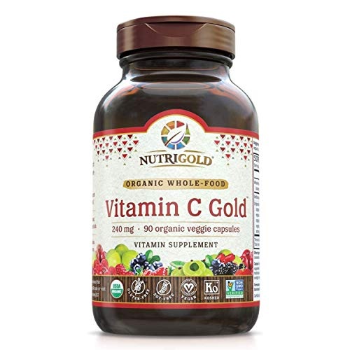 Cheap NutriGold Organic Whole-Food Vitamin C 240 mg 90 plantcaps