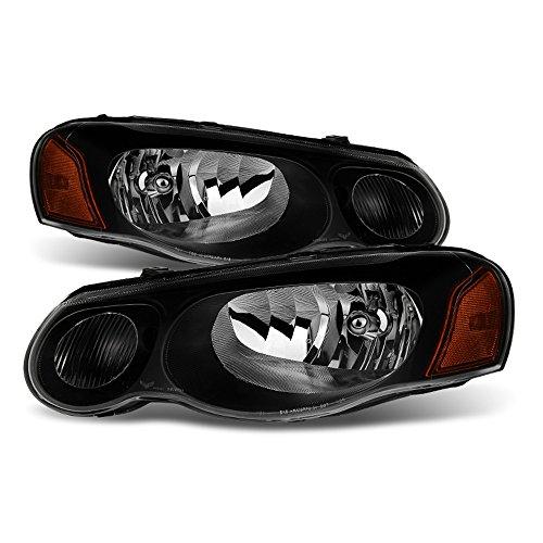 ACANII - For 2004-2006 Chrysler Sebring Sedan/Convertible Black Headlights Headlamps Replacement Driver + Passenger Side