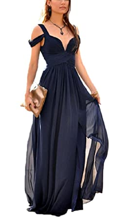 Baijinbai Navy Blue Bridesmaid Dress Wedding Guest Party Evening Cocktail Long Fitted Prom Dresses Navy UK06