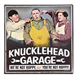 Open Road Brands Three Stooges Garage Embossed Tin Sign Garage Décor, 12
