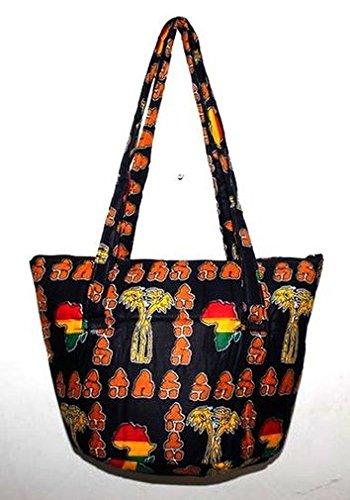 Africa Art Decoration–Medio sacchetto borsa tutto in tracolla art africano in tessuti 7363-l2C-2403