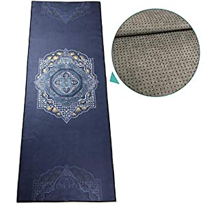zapita Anti-Slip Yoga Mat Towel ( Double-Layer Composite Material & Silicone Dots) / Avoid Bunching up / Foldable Travel…