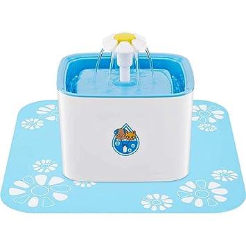 GLMAMK Dispensador de Agua para Mascotas, filtración de carbón Activado en Suministros para Mascotas,