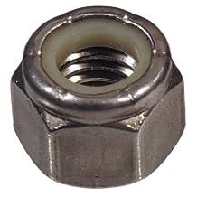 The Hillman Group 43751 1-8-Inch Nylon Insert Lock Nut, Stainless Steel, 2-Pack
