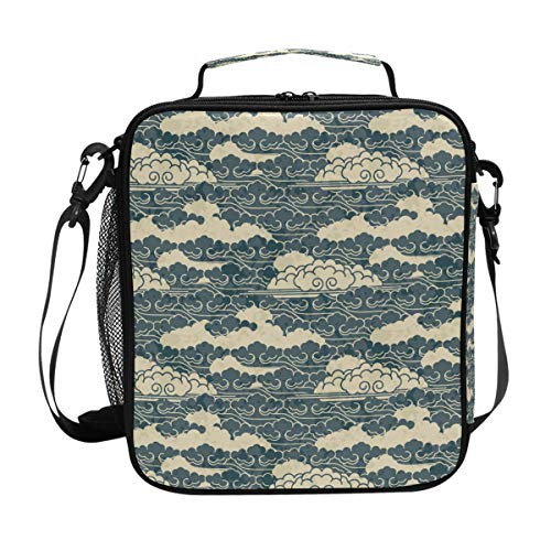 multi-function Premium Lunch Bag/Ice bag with Shoulder Strap Cloud Celadon | Lunch Box for Adults, Kids | Soft Leak Proof Liner |Lunch Cooler for Office, School