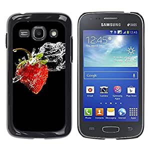 Exotic-Star ( Fruit Macro Wet Strawberry ) Fundas Cover Cubre Hard Case Cover para Samsung Galaxy Ace 3 III / GT-S7270 / GT-S7275 / GT-S7272