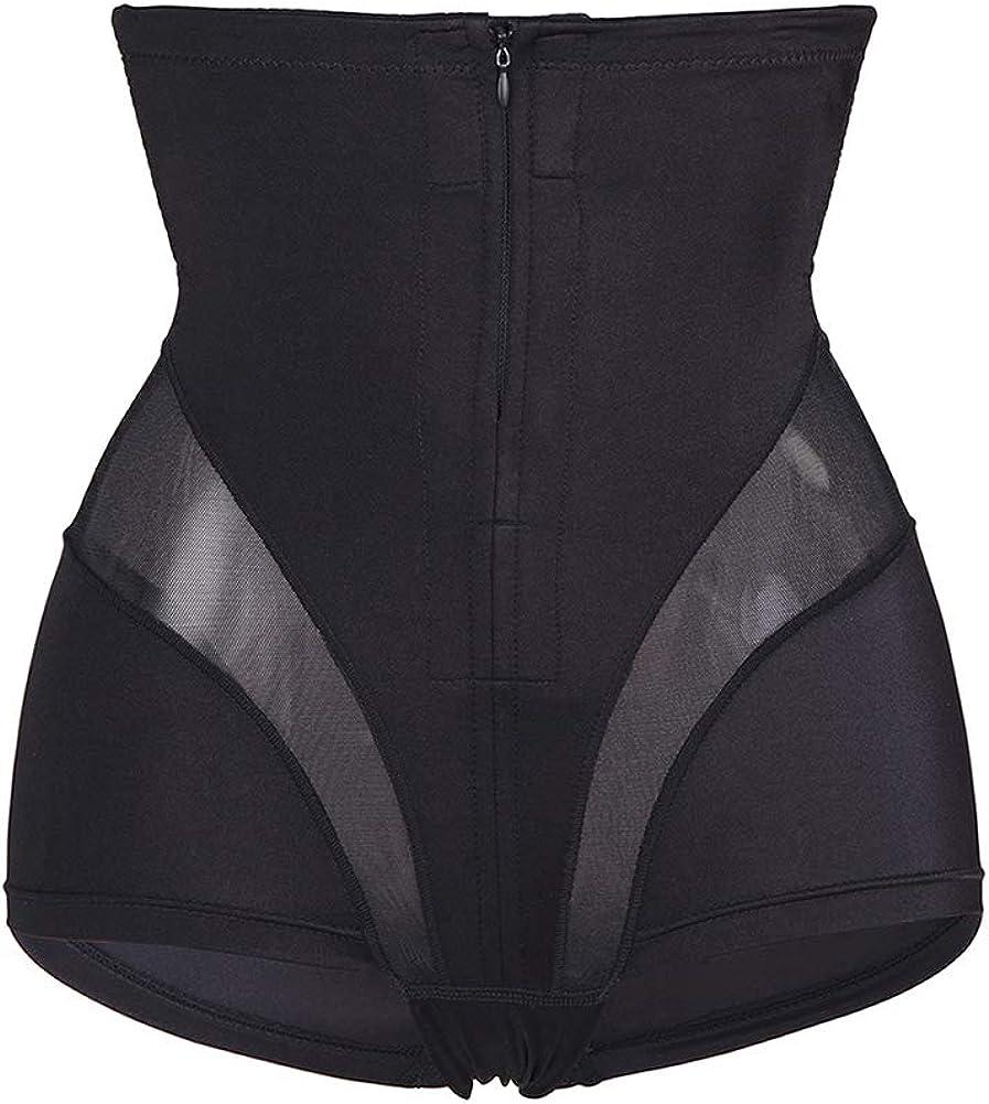 LYZ Women Body Shaper High Waist Tummy Control Bodysuit Briefer Panty Compression Underwear Zipper Closure