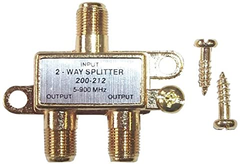 Black Point Products BV-017 Gold 2 Way Hybrid Splitter - 900 Mhz Splitter