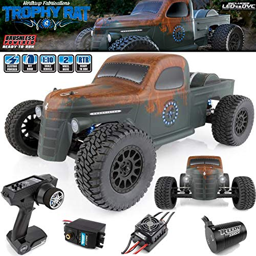 9 Trophy Rat Short Course Truck, Brushless, Ready to Run, 1/10 Scale, 2WD ()