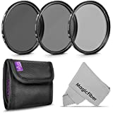 62MM Altura Photo Neutral Density Professional Photography Filter Set (ND2 ND4 ND8) + Premium MagicFiber Microfiber Cleaning Cloth
