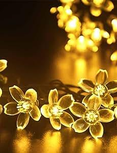 GMY Christmas Light Flower Shape 50LED Solar Light Warm White/Cool White/Mix Color , rgb