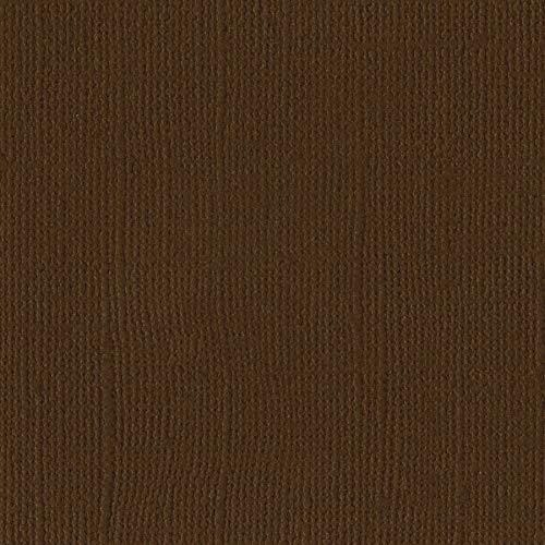 Bazzill Pinecone 12x12 Textured Cardstock | 80 lb Cedar Brown Scrapbook Paper | Premium Card Making and Paper Crafting Supplies | 25 Sheets per Pack