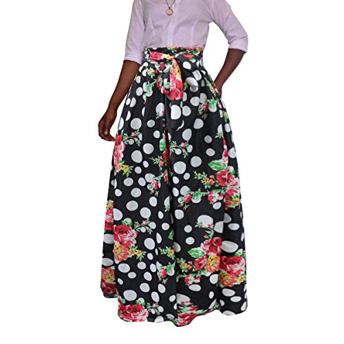 New Femme Longue Jupe Haut Taille Vintage Skirt Jupe Chic Femme avec Bandage Pink