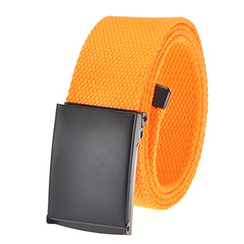 Orange Web - Cut To Fit Canvas Web Belt Size Up to 52