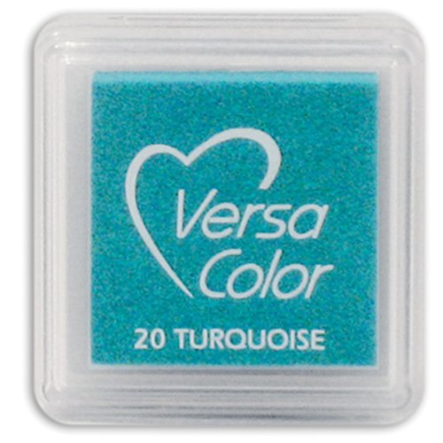Tsukineko Small-Size VersaColor Ultimate Pigment Inkpad, Turquoise (Cubes Versacolor)