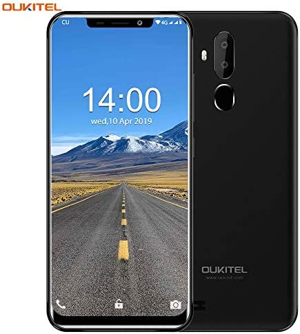 OUKITEL C12 Unlocked Smartphone Global 3G, 6.18 inches (19:9) Screen, 2GB +16GB, Android 8.1 OS, 8MP+2MP Cameras, Dual Sim, Face Fingerprint Recognition Unlocked Cell Phones- Black