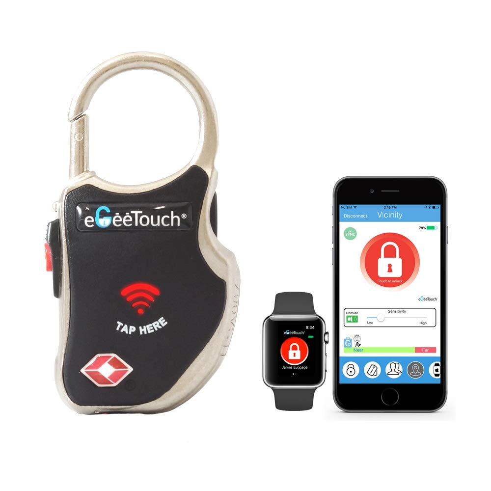 eGeeTouch Smart TSA Travel Lock - Secure & Track your Luggage anywhere you go... Backpack GT1000