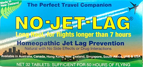 No-Jet-Lag Homeopathic Jet Lag Prevention (Long Haul - For Flights Longer than 7 Hours) 32 - Ingredients No Lag Jet