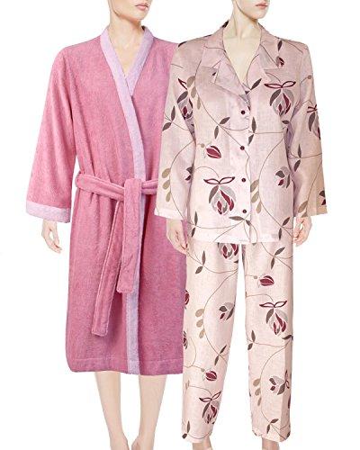 1b97098e36 Armani International Linen Pajamas Kimono + Terry Robe Slippers X-Large Rose