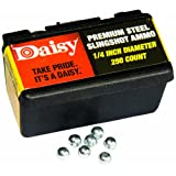 Daisy Outdoor Products 988114-446 Steel Slingshot Ammo, Black, 1/4-Inch