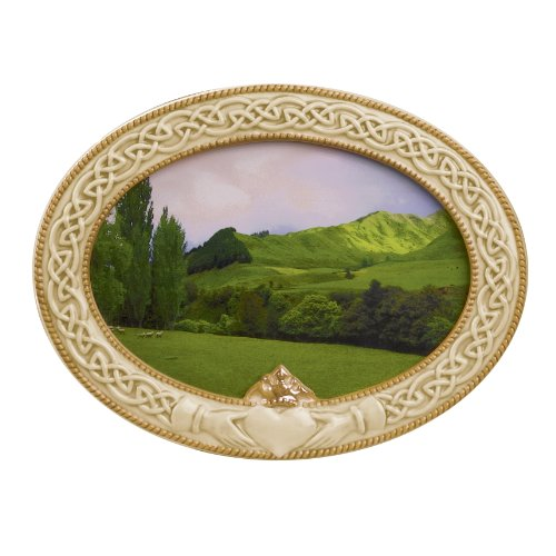 (Grasslands Road 448684 Celebrating Heritage Celtic Claddagh Frame, 5-1/2 by 7-1/2-Inch, Holds 4 by 6 Photo)