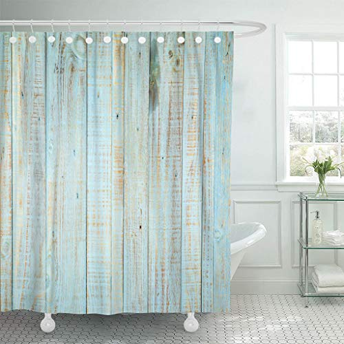 Emvency Fabric Shower Curtain with Hooks Gray Old Vintage Wood with Knots and Nail Holes Antique Floor Plank Light Panel Desk 72
