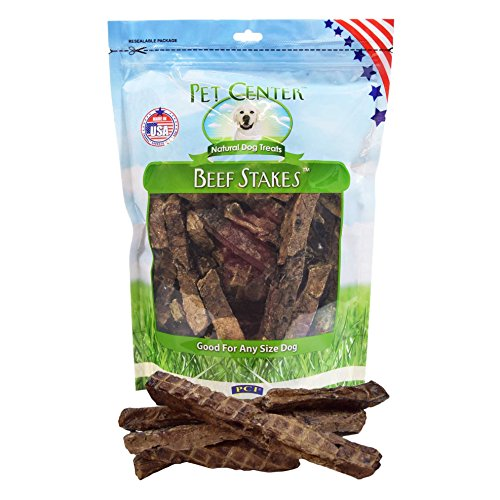 Premium All Natural Made in the USA Beef Stakes Beef Lung Dog Treats – 1 Pound Package