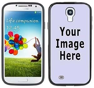 Your Photo Any Image Logo Design Custom Samsung Galaxy S4 Black Bumper Hard Plastic Case