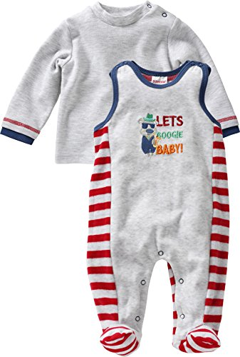 Schnizler Unisex Baby Strampler Set Nicki, Let´s Boogie, 2 - tlg. mit Langarmshirt, Oeko - Tex Standard 100, Gr. 62, Grau (grau/melange 37)