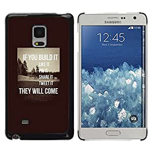 FlareStar Colour Printing Build It Inspiring Sepia Message Smart cáscara Funda Case Caso de plástico para Samsung Galaxy Mega 5.8 / i9150 / i9152