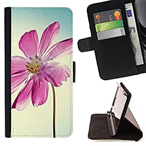King Case - FOR Samsung Galaxy S6 EDGE - I am not giving up - Prima caja de la PU billetera de cuero con ranuras para tarjetas, efectivo Compartimiento desmontable y correa para la mu?eca