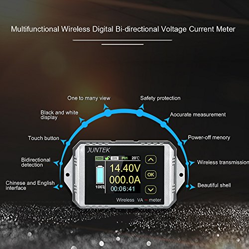0-300A 0-400V Wireless Voltage Ammeter Multimeters Coulomb Counter TFT LCD